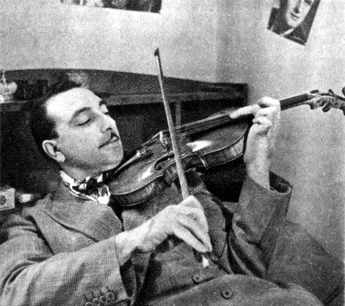 django playing violin