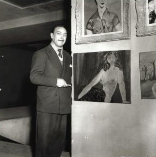 django with some paintings 1952