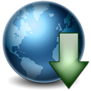 Earth Download Icon 128